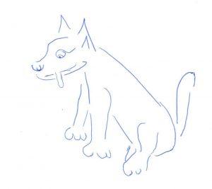 hond getekend door Jordy
