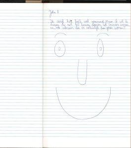 John schrijft in het boek