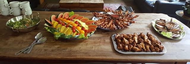 We vierden Pinksteren met een gezellig gezamenlijk etentje; tekst en foto's door Ans